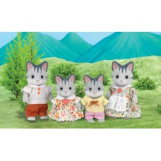 Sylvanian Families Harvey Gray Cat Family