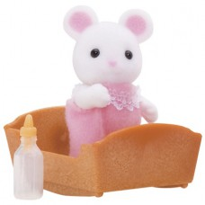 Sylvanian Families Hawthorn White Mouse Baby