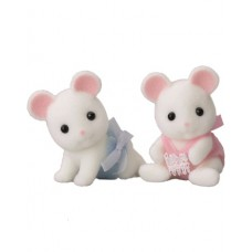 Sylvanian Families Hawthorn White Mouse Twin Babies