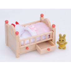 Sylvanian Families Baby Crib Beige