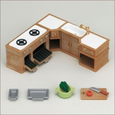 Sylvanian Families Kitchen Stove, Sink and Counter