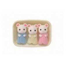 Sylvanian Families Marshmallow Mouse Triplet Babies
