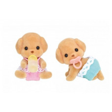 Sylvanian Families Toy Poodle Twin Babies